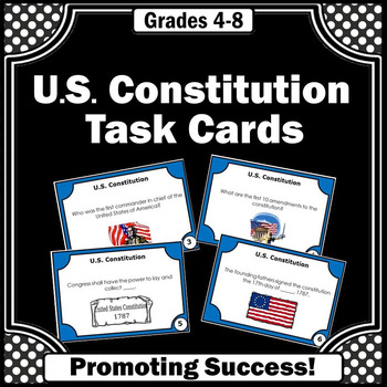 US Constitution Day Activities, Social Studies Task Cards