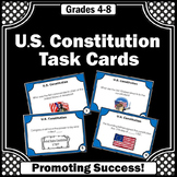 Presidents Day Activities, U.S Constitution, Social Studies Task Cards