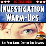 US Constitution Unit Warm-Ups Skill Based, Mini Lessons, B
