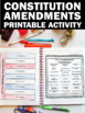 US Constitution Project with Constitutional Amendments Interactive Notebook