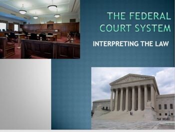 U.S. Court System & Supreme Court PowerPoint Lesson