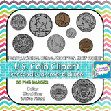 U.S. Currency Coin ClipArt [Front & Back]