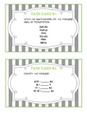 US Customary Measurement Task Cards
