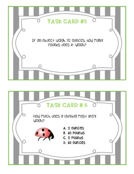 US Customary Measurement Task Cards
