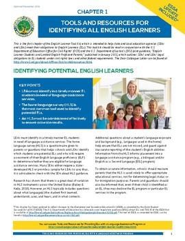 US Dept. of Ed. English Learner (EL) Tool Kit
