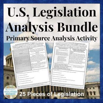 U.S. Document Analysis BUNDLE - Legislative Set of Acts, Amendments, Resolutions