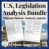 U.S. Document Analysis BUNDLE - Legislative Set of Acts, A