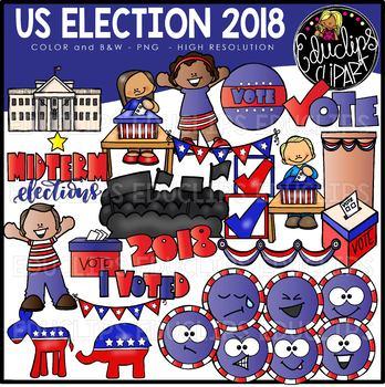 US Election Clip Art Bundle {Educlips Clipart}