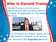 US Election 2016 Donald Trump wins presentation or assembly- editable