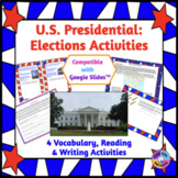 US Elections Vocabulary, Reading & Writing: Independent Work, Distance Learning