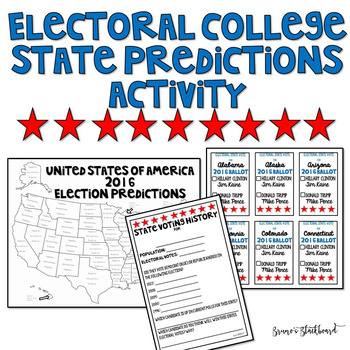 US Electoral College Prediction Activity 2016 Election