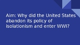 US Enter WWII PowerPoint
