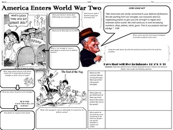 US Enters WWII Graphic Organizer & Primary Source Analysis