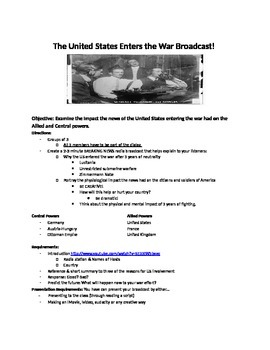 US Enters World War I News broadcast: Assignment for Propaganda and US entry