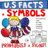 US Facts & Symbols 1st/2nd/3rd Grade- 2 Weeks of Activities & Colorful Signs