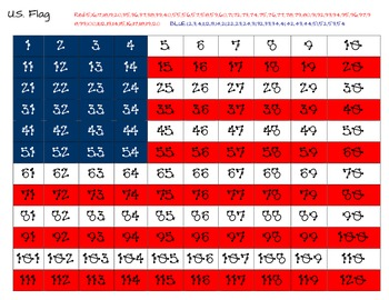 U.S. Flag Hidden Picture for 120 chart