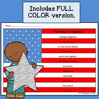 American Flag & Pledge of Allegiance