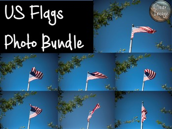 US Flags Photo Bundle - for Personal and Commercial Use
