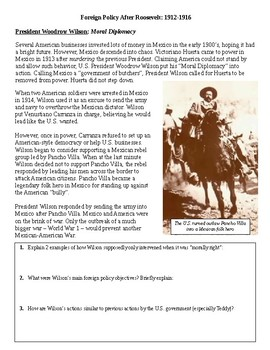 US Foreign Policy After Teddy Roosevelt: Taft & Wilson