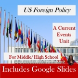 US Foreign Policy a Current Events Unit for Special Ed with lesson plans