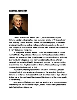 U.S. Founding Fathers Activity (with Higher Order Thinking Questions)