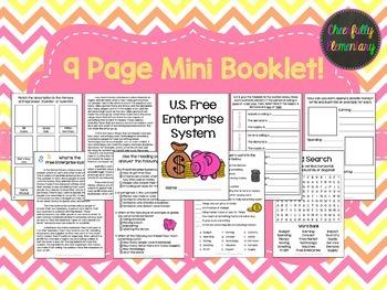 US Economy: Free Enterprise System Mini Booklet