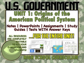 US GOVERNMENT 6 Week | Origins, Types, Branches and MORE!