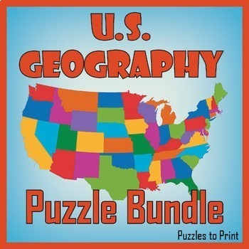US Geography Worksheet Bundle