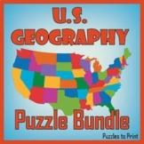 US Geography Worksheet Bundle