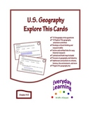 US Geography Explore This Critical Thinking Cards