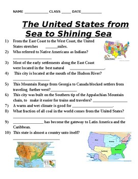 US Geography - From Sea to Shining Sea Video Guide