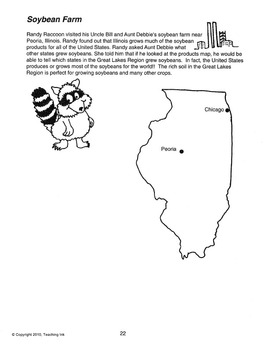 US Geography - Great Lakes Region (Grades 2-3) by Teaching Ink