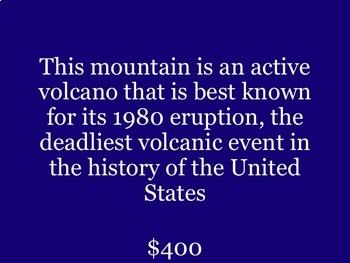 US Geography Jeopardy