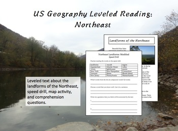 US Geography Leveled Readings Northeast