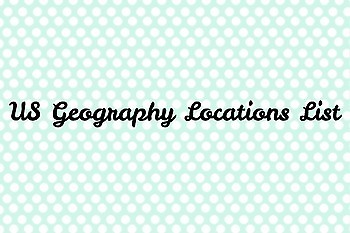 US Geography Lists