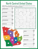 US Geography Worksheet - North Central United States