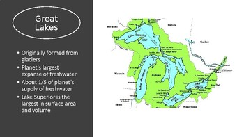 US Geography PowerPoint and Map Activity