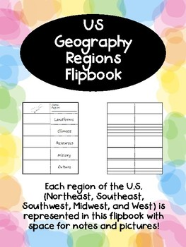 US Geography Regions Flipbook