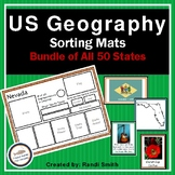 US Geography Sorting Mats: Bundle of All 50 States