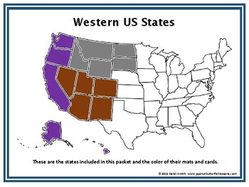 US Geography Sorting Mats: Western States