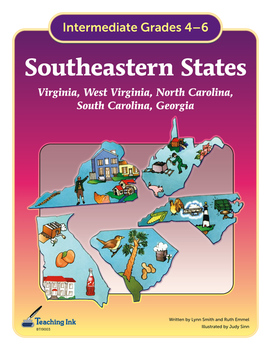 US Geography - Southeastern States (Grades 4-6) by Teaching Ink
