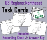 US Geography Task Cards: Northeast Region of the United States (Map Skills Unit)