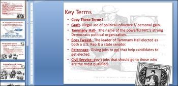 U.S. Gilded Age Politics:  Tammany Hall & Boss Tweed