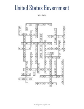 US Government Crossword Puzzle