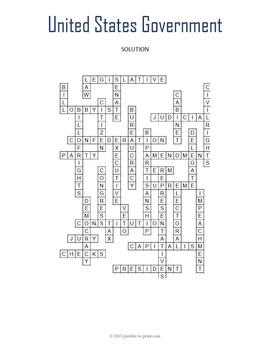 US Government Crossword Puzzle
