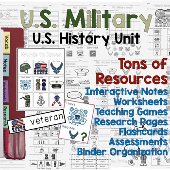 US Military / Veterans History Unit - Differentiated Resources