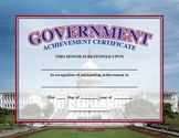 US Government Academic Achievement Award/Certificate
