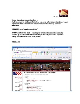 U.S. Government Annotated Websites