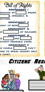 U.S. Government & Bill of Rights Interactive Notes and Assessment