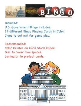 US Government Bingo
